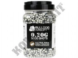 5000 x 6mm x 20g Black White Ultra Mix Polished Airsoft BB Gun Pellets